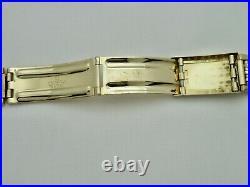 14K Solid Gold Omega Beads Of Rice BOR Vintage Bracelet 18 mm Very Rare