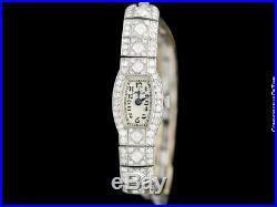 1927 OMEGA Rare Art Deco Vintage Ladies Platinum with 1.5 Carats of Diamonds