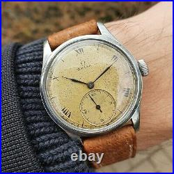 1940s Rare SS Omega CK2383 Cal. 30T2 vintage watch