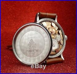 1945 Omega Chronometre 30t2scrg, Ref # 2410-2, Steel Case # 299 Rare