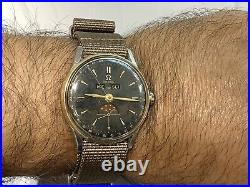 1947 OMEGA 2471-7 S/S & Y/Gold COSMIC TRIPLE DATE MOONPHASE 35mm Cal. 361 RARE