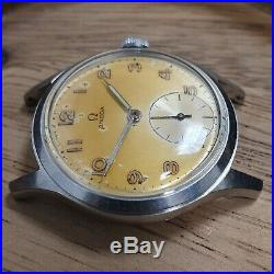 1950 Rare Omega SS Tropical Radium Dial Cal. 265 Vintage Wristwatch