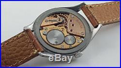 1950 VINTAGE OMEGA JUMBO CALATRAVA CAL. 265 S STEEL CASE 38 mm. ULTRA RARE +++
