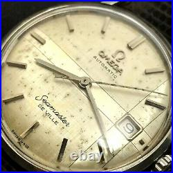 1960's Vintage OMEGA Seamaster DE VILLE Rare Dial SS 34mm Automatic Mens Watch