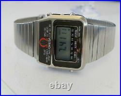 1978'S RARE OMEGA Memomaster LCD Digital Watch vintage