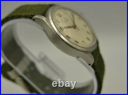 40's ww2 vintage watch mens Omega military ref. 2179 /3 rare steel 35mm serviced
