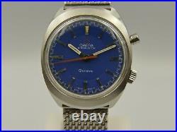 60's vintage watch mens Omega Chronostop ref. 145.009 cal. 865 blue dial RARE