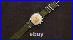 AR & JE Meylan Lemania Omega 321 Watch Chronograph Vintage Tropical Dial Rare