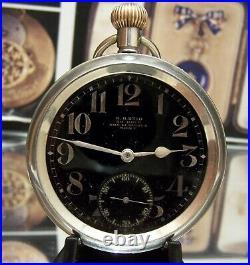 Antique Vintage Rare Omega Rfc / Raf Pilots Ww1 Military Pocket Watch Serviced