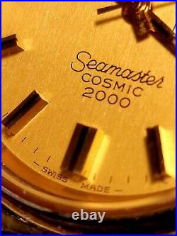 Authentic Rare Vintage Gold Omega Seamaster Cosmic 2000 Great Condition