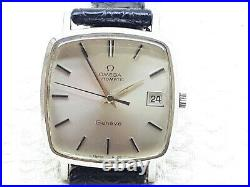 Elegant Omega Genev Automatic Cal. 1012 Mens Wrist Watch Date Vintage Rare Ss