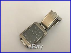 Excellent Rare OMEGA DE VILLE cal. 711 Grey All Steel Vintage Swiss Watch