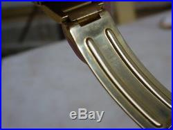 Extremely RARE 1970s Omega Dynamic 18K Solid Gold Case & Bracelet