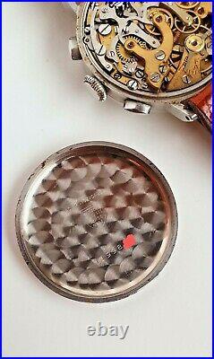 Extremely rare Tissot Omega 33.3 Lemania vintage chronograph bitonal dial