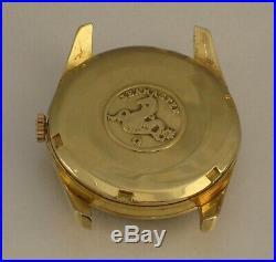 GENUINE OMEGA SEAMASTER VINTAGE VERY RARE BLACK DIAL 18K GOLD WATCH CASE 33 mm