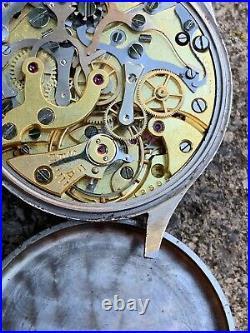 Lemania 15TL Military Chronograph Omega 33.3 Rare Vintage Watch