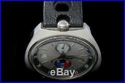 Lemania /Omega Bullhead Rare vintage gents sports watch