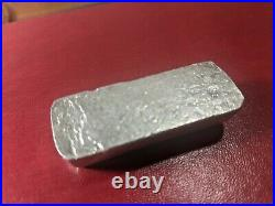 M & B Mining Omega 3 Troy Ounces 999+ Fine Silver Bar Rare Vintage Poured Ingot