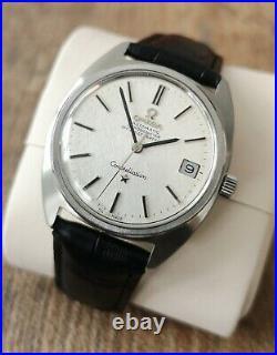 Men's Vintage Wristwatch Omega Constellation Rare Linen Dial S/S Automatic 1970