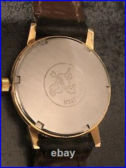 Mens Rare 1966 Omega Seamaster 600 Red Crosshairs Original Vintage Watch