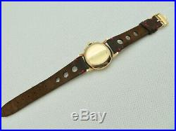 Mens Rare Vintage 1944 Swiss OMEGA 14K Gold Chronograph Wristwatch 27CHRO T1PC