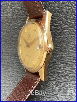 Montre Vintage Omega Seamaster 14710 OR Massif 18k Suisse Automatic 562 Rare