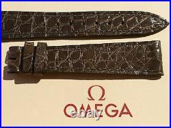 NOS Vintage Omega 16mm Grey Crocodile Strap VERY RARE