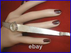 Never Used Rare Heavy Vintage Omega Solid 18k Wg Ladies Watch, Bracelet