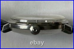 OMEGA DEVILLE Mens Automatic Vintage Silver, Rare Blue Dial, Quickset Date