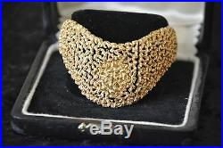 OMEGA Ladies Watch A VERY FINE AND RARE 18K GOLD ASYMMETRICAL BRACELET Vintage