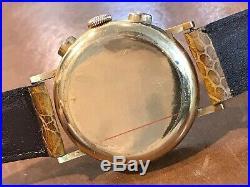 OMEGA Rare 37.5mm Vintage 1940, 18k Pink Gold Chronograph 33.3