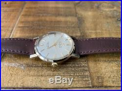 OMEGA SEAMASTER 14K SOLID GOLD Gents Vintage Automatic Watch 33mm RARE