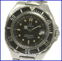 OMEGA Seamaster 200 Date Quartz Ladies SS Black Dial Date Vintage Rare Watch