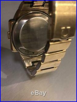 OMEGA TIME COMPUTER LED LCD DIGITAL Wrist Watch Rare 1970s USED Japan FedEx