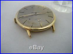 OMEGA VINTAGE Solid 18k Yellow GOLD 33 MM MENS WATCH RARE
