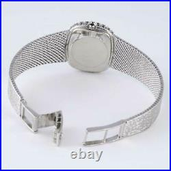 OMEGA Vintage 1971 Ladies Dress Watch 27mm 18kt White Gold with Diamonds Rare