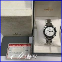 OMEGA Vintage Speedmaster Marui Limited Edition Chronograph White rare 3510.20