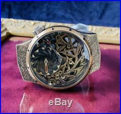 OMEGA Vintage watch 1915 Overhauled skeleton regulator analog rare antique Japan