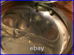Omega 19''' LOBNN mechanical pocket watch vintage 1910's Very RARE 58mm