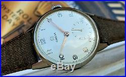 Omega 2495 10 OVERSIZE RARE VINTAGE Cal 265 1946's WATCH DIAL RARE TOP TOP TOP