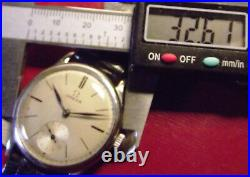 Omega Cal. 26.5 Sob T3 Ultra Rare Vintage 1935 All S. Steel Swiss Made