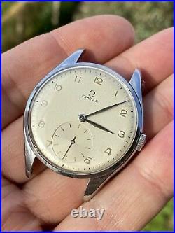 Omega Calatrava Cal 265 Ref 2505-30 Oversize Rare Vintage Watch