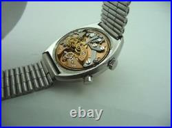Omega Chronostop Vintage Steel Watch Rare Racing Dial Top Conditions 70's