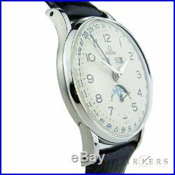 Omega Cosmic Triple Calendar Vintage Mechanical Rare Wristwatch 1944