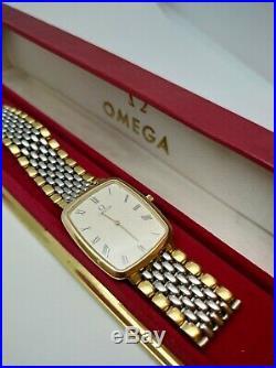 Omega De Ville, Gents, Original Omega Bracelet, Textured Cream dial Used, rare