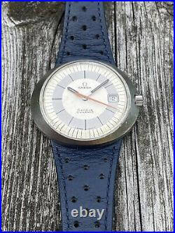 Omega Dynamic Vintage Rare White Dial 40.5mm Mechanical Mens Diver Watch