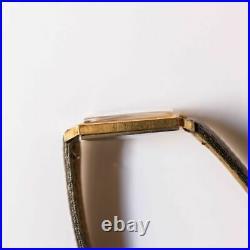Omega Gold Plated 111.024 Manual 625 Square Vintage Rare
