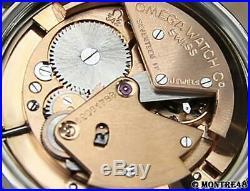 Omega Rare Bumper Cal 342 Swiss 33mm Men Auto Gold Cap 1960 Vintage Watch O15