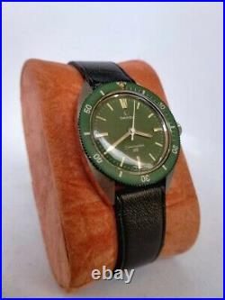 Omega Seamaster 120m Factory Green Dial-Rare Vintage With Box&Tag- Manual Wind