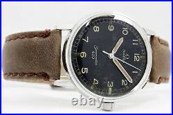Omega Seamaster 600 Original Very Rare Military Style Black Dial Men Vintage Wri